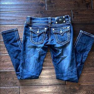Juniors Miss Me Skinny Jeans Size 25